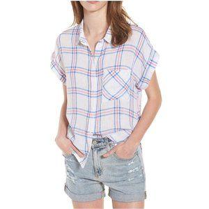 RAILS Whitney Stripe Plaid Short-Sleeve Top sz XS
